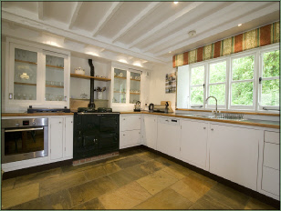 Spacious cottage kitchen with AGA